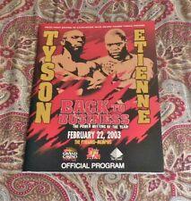 MIKE TYSON VS. CLIFFORD ETIENNE - FEB 22, 2003 - BOXING PROGRAM - HTF - LOOK!