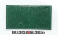 Rolex Green Leather Wallet Passport Card Holder With Notepad Included 70.06.02