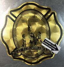 "Firefighter, United We Stand 911 Gold Coburn Custom Decal 3.75""  #FD128"
