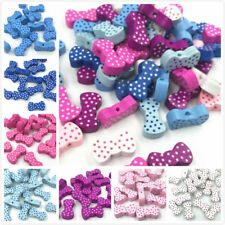 DIY Mixed Bowknot Shape Wooden Beads Jewelry Pacifier clip Accessories