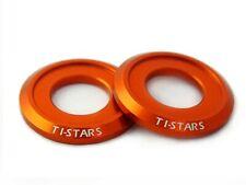 Washer M5 Aluminum Anodized Finishing Colorful Ti-Stars New design 10 pcs Orange