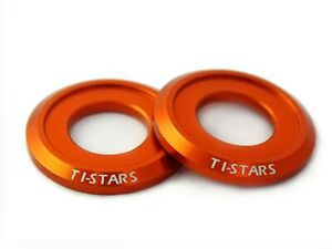 Washer M10 Aluminum Anodized Finishing Colorful Ti-STARS New design 10pcs Orange