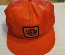 Vintage Pengo Attachments K Brand Orange Snapback Farm Equipment Usa