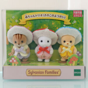 Sylvanian Families BABY TRIO MUSHROOM FAIRY Calico Critters Japan 2019