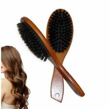 Boar Bristle Hair Brush Comb Oval Anti-static Paddle Massage Scalp Brush Beauty