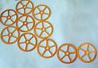 Steampunk Watch clock gears cogs wheels parts - 10 LARGE COPPER gears 33mm