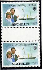 SEYCHELLES 1981 ROYAL WEDDING R1.50 GUTTER PAIRS EX BOOKLET MNH