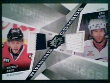 PATRICK KANE / ERIK COLE  AUTHENTIC DUAL PIECE OF GAME-USED JERSEYS