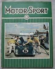 Motor Sport magazine 03/1969 featuring Ford Capri 1600GT road test, Triumph
