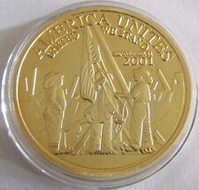 11. SEPTEMBER USA - ANSCHLAG WORLD TRADE CENTER - FEUERWEHR - GOLDMÜNZE