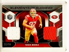 2019 NICK BOSA PANINI ELEMENTS OF SUCCESS DUAL RELIC JERSEY BALL RC SP /99 49ERS