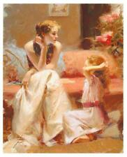 """Pino """"Thinking of You"""" Sold Out Mother-Daughter Giclee Canvas Hand signed/# COA"""