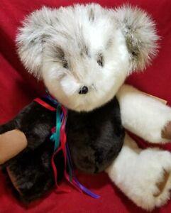 "Lu Ann Landon ""Gregory"" OOAK artist teddy bear  15"" REAL FUR Mother Grimm's Bear"