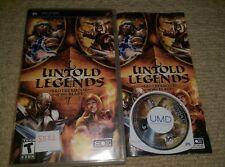 Untold Legends: la Hermandad de la Hoja-Raro Sony PSP juego