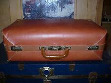 Vintage Leather Suitcase Travel Bag Luggage lock key Linen interior  Ireland