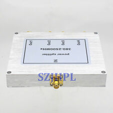 4-way RF coaxial Power Splitter Divider Combiner SMA 380-2500MHz signal booster