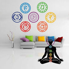 Wallpaper Stickers Mandala Yoga Meditation Symbol Chakra Home Sticker Wall Decal