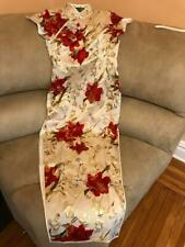 Vintage Japanese Famous Designer Silk Brocade Red Gold Exquisite Geisha Dress