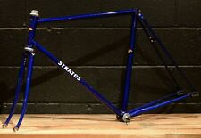 RARE 2003 Stratos Blue Purple Sparkle 55 cm Track Bicycle Frameset Bike
