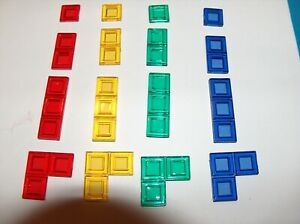 Blokus replacement pieces - single double triple 3-piece pieces Mattel RIDGED