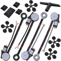 4 Window Roll Up Conversion Power Electric Universal Kit w/ 4 Switches Car Auto