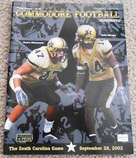 Vanderbilt vs South Carolina Football Gameday Program 2002