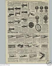 1920 PAPER AD Klaxon Car Automobile Horn Horns Moto Meter Howe Lights Search