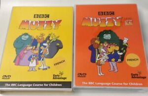 Muzzy DVDs BBC French Language Course Learning For Children Level 1 & Level 2