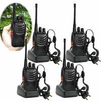 4 X Baofeng BF-888S Long Range Walkie Talkie UHF 400-470MHZ 2-Way Radio 16CH QE