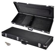 Wooden Universal Electric Guitar Hard Case Rectangular Shell Latches Lockable