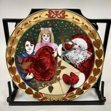 Royal Copenhagen 3rd Annual Christmas Plate 2008 Red Heart Of Christmas Cards