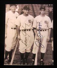8x10 photo Joe DiMaggio & Lou Gehrig, NY Yankees, not original signatures