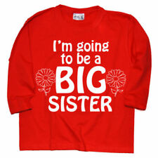 Camisetas y tops de niña de 2 a 16 años de manga larga en rojo 100% algodón