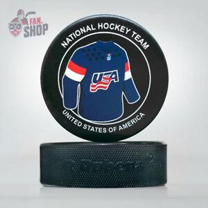 Puck Jersey National Hockey Team United States of America IIHF Championship USA