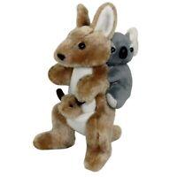 JUMBACK KOALA (10cm) & KANGAROO (23cm) PIGGY-BACK SOFT ANIMAL PLUSH TOY **NEW**