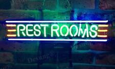 "Rest Rooms Toilet Restrooms Neon Light Sign 17""x6"" Wall Decor Beer Bar Lamp"