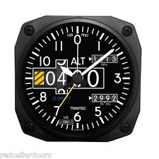 """New TRINTEC ALTIMETER Alarm Clock Aviator Altitude Portable for Travel 3.5"""" DM20"""