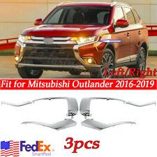 Fits 2016-2019 Mitsubishi Outlander Front Bumper Molding Chrome Trim RIght Passenger side 3 Pieces