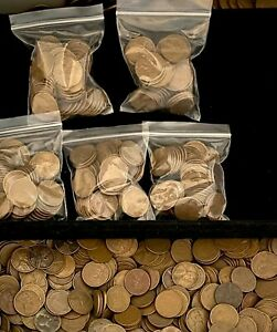Wheat Penny Bags - 50 coins - (1909-1958) - P/D/S - Unsearched - Save up to 10%