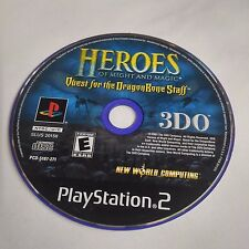 Heroes of Might and Magic: Quest for the Dragon Bone Staff (PS2) DISC ONLY #1599