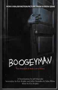 Boogeyman Movie Novelization by Jeff Mariotte 2005 Horror Paperback