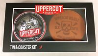 Uppercut Deluxe Combo Tin & Coaster Kit Mens Hair Pomade Hair Wax Set
