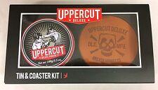 Uppercut Deluxe Combo Tin & Coaster Kit Mens Hair Pomade Hair Wax Set