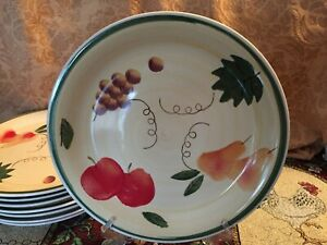 "2 ROYAL NORFOLK-TUSCAN FRUIT DINNER PLATES 10-5/8"" - Multiples Available"