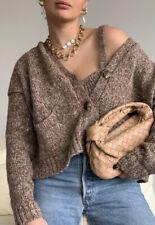 Zara Brown Twist Knit Cardigan. Size L