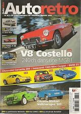 AUTO RETRO 376 FORD P68 1968 CORVETTE Z06 2008 MGB V8 COSTELLO MEHARI VW 181