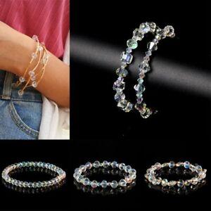 Fashion Crystal Rhinestone Bracelet Bangle Wedding Bridal Wristband Jewelry Gift