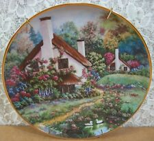 "Franklin Mint 8� ""A Cozy Glen"" Plate Paint by Violet Schwenig 24K Gold Trimmed"