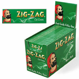 Zig Zag Green Standard Regular Rolling Papers Cigarette 1 To 50 Booklets