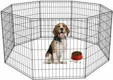 """BestPet 30"""" Tall Dog Playpen Crate Fence Pet Kennel Play Pen Exercise Cage 8 Pan"""